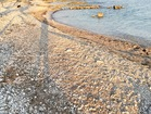 Beach with azure blue Adriatic Sea under vacation house - 4 bedroom beachfront house in Orebic, Croatia