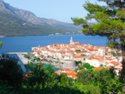 Charming Korcula town lies just over the Chanel