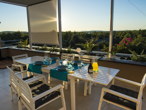 Spacious terrace - 2-bedroom apartment Summer Adventure, Sibenik