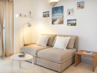 Hvar Serenity Apartments - modern living room with pull out sofa.