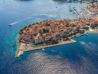 Charming Korcula Old town with many restaurants and fascinating galleries