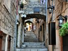 Charming narrow street in Korcula Old town