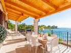 Lux villa by the sea - the terrace offers a breathtaking view to the sea